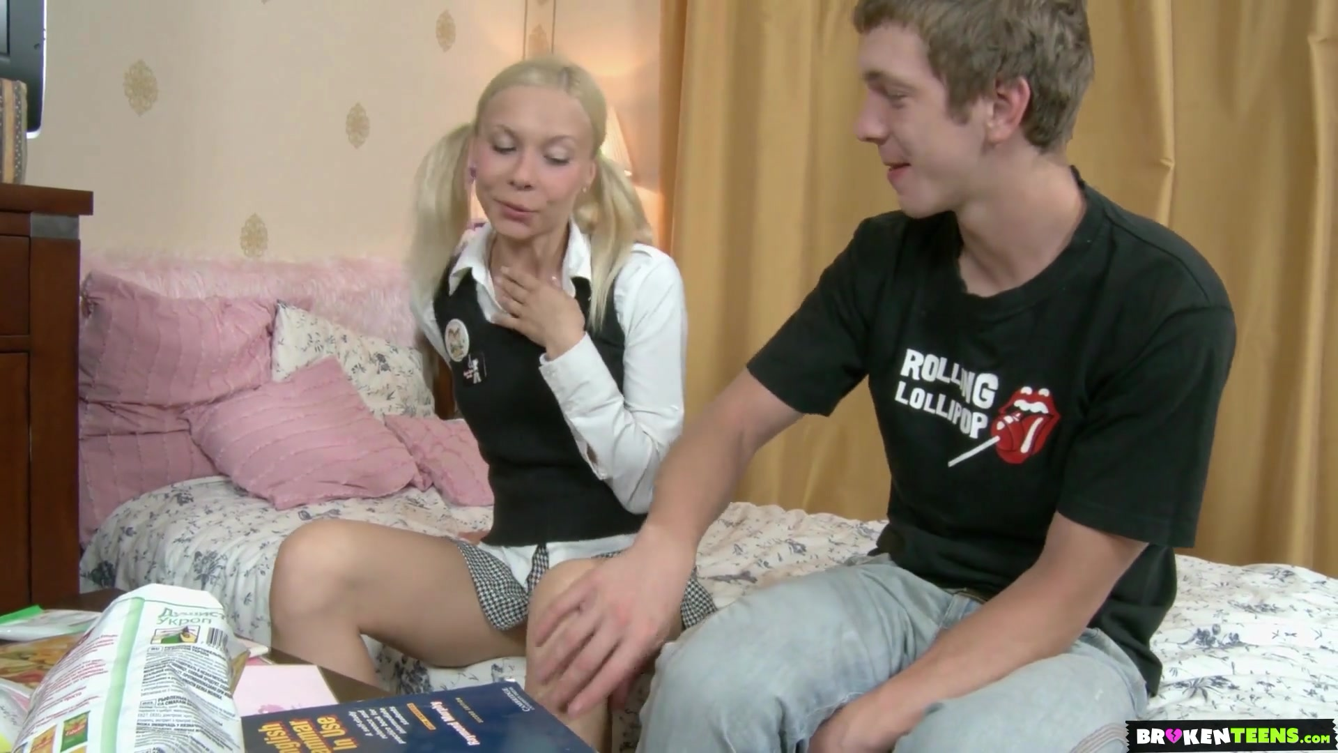 Dude discovers the benefits of tutoring as he fucks a hot Russian girl