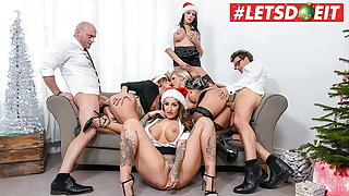 LETSDOEIT - Christmas Office Orgy With Mia Blow & Her Girls