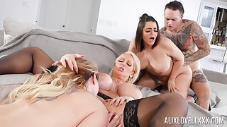 Awesome group fuck with Alix Lovell, Alura Jenson and Kiki Dare