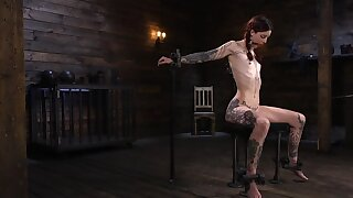 Skinny alt redhead properly dominated by a mysterious master