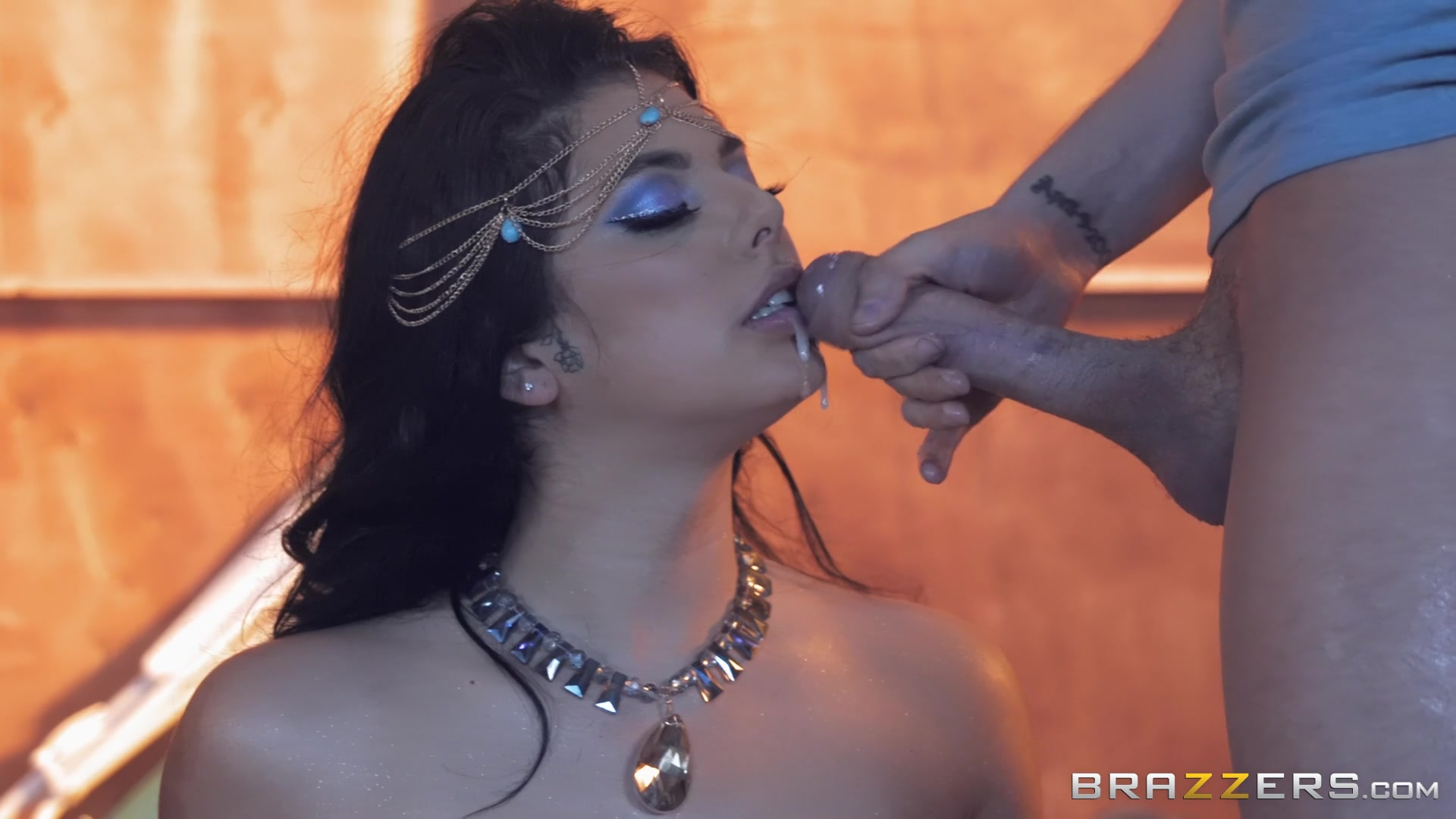 sensual dancer Gina Valentina likes to ride stranger's fat penis