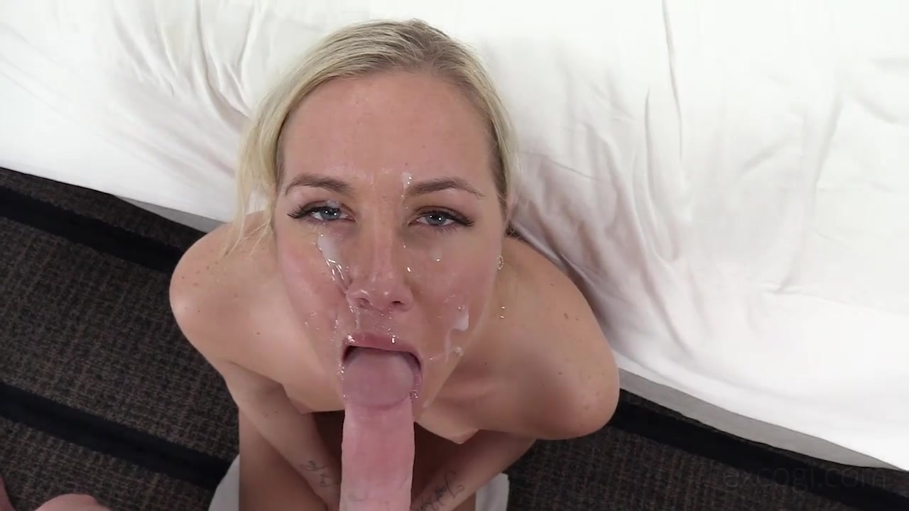 Lad shoots blonde orgasming in a missionary position