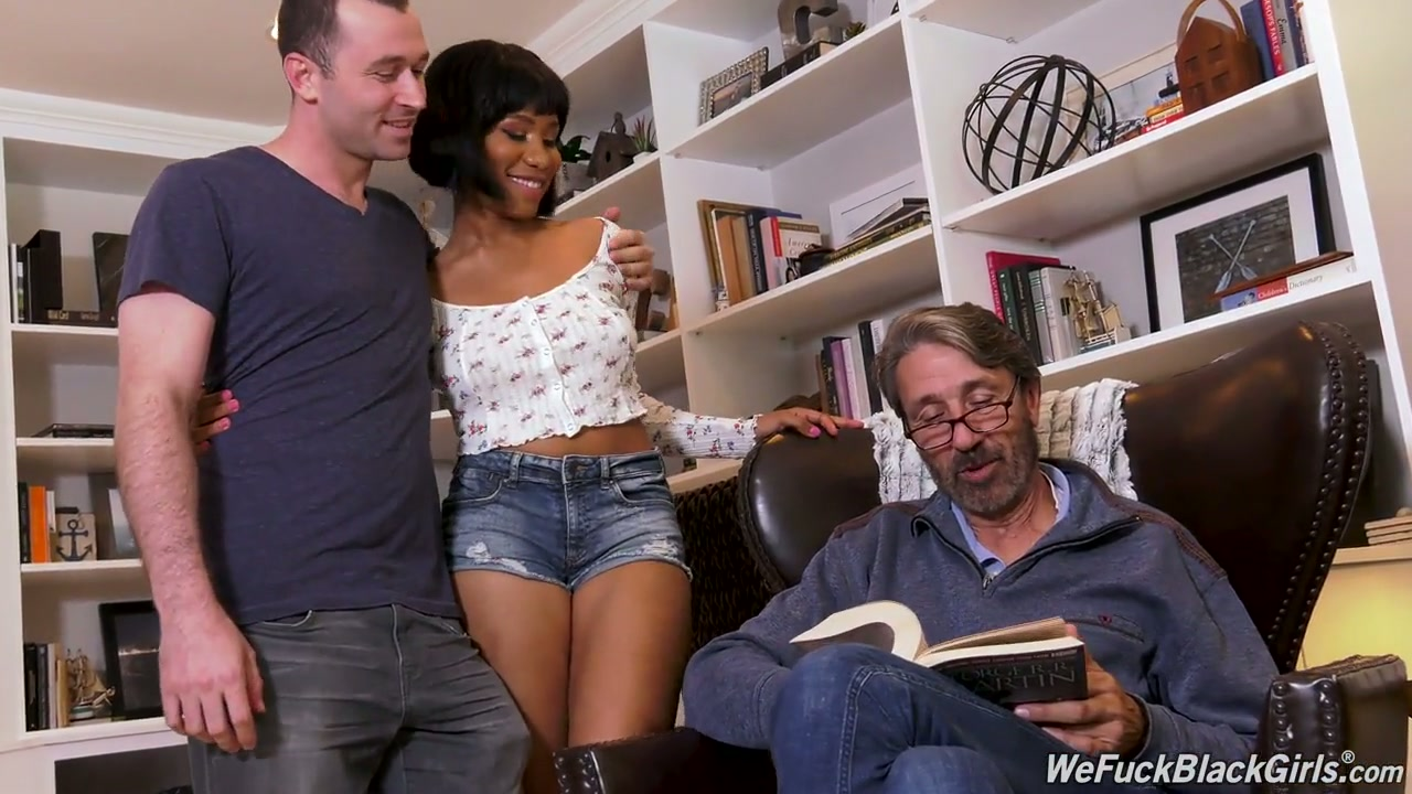 Black babe Jenna Foxx is in for some breathtaking threesome experience