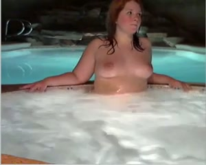 19 yo chubby nympho is more than eager to have some fun in the Jacuzzi
